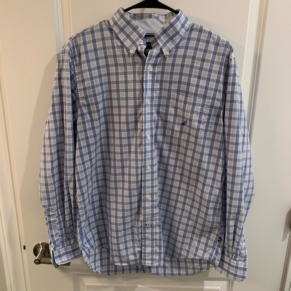 Nautica Other - Men's Blue Striped Nautica Button-Up!